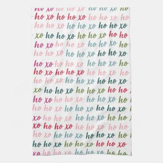 Ho Ho Xo Christmas Towel