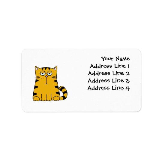 Ho Hum Kitty Address Label