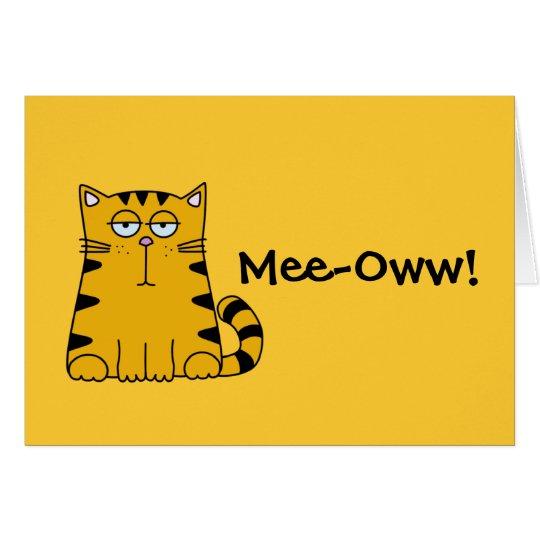 Ho Hum Kitty Card
