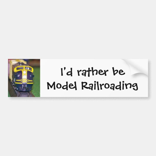 HO Model Train Bumper Sticker