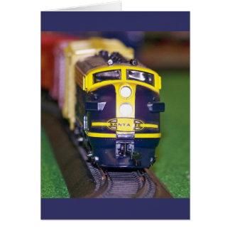 HO Model Train Card