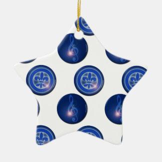 Ho´oponopono Flower of Lily and Sun Key Ceramic Star Decoration
