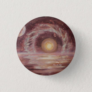 Hoag's Object and Two Moons 3 Cm Round Badge