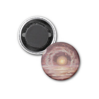 Hoag's Object and Two Moons 3 Cm Round Magnet
