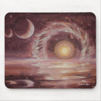 Hoag's Object and Two Moons Mouse Pad