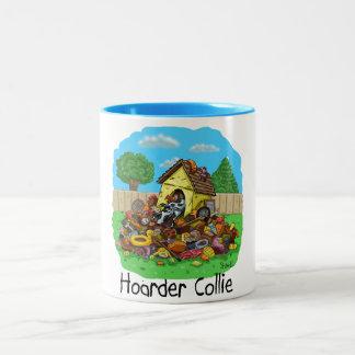 Hoarder Collie Two-Tone Coffee Mug