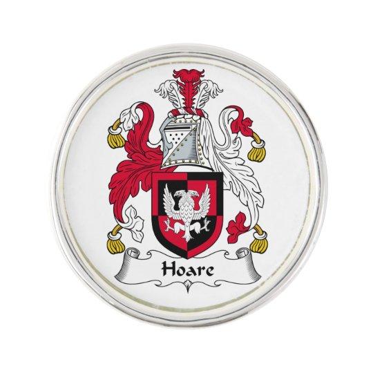 Hoare Family Crest Lapel Pin