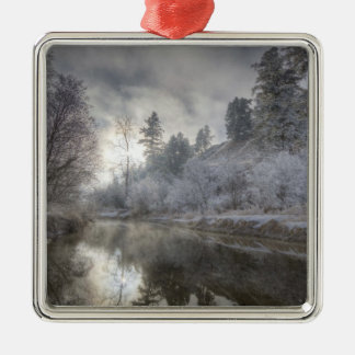 Hoarfrost along a slough at the Kelly Island Christmas Ornament