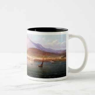Hobart Town with Mount Wellington, Tasmania Two-Tone Coffee Mug