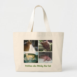 Hobbes aka Stinky the Cat Large Tote Bag