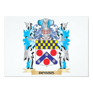 Hobbis Coat of Arms - Family Crest Personalized Invitation