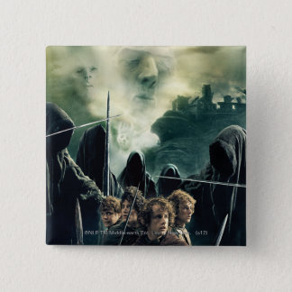 Hobbits Ready to Battle 15 Cm Square Badge