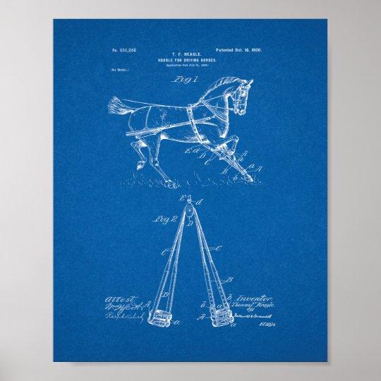 Hobble For Driving-horses Patent - Blueprint Poster