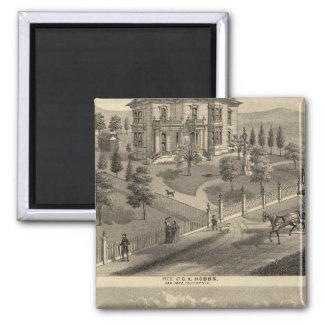 Hobbs, Bradley residences Square Magnet