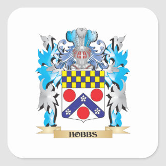 Hobbs Coat of Arms - Family Crest Square Sticker