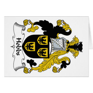 Hobbs Family Crest Greeting Card