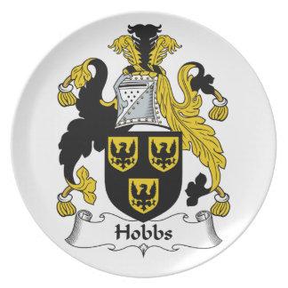 Hobbs Family Crest Dinner Plates