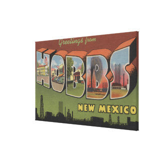 Hobbs, New Mexico - Large Letter Scenes 2 Stretched Canvas Prints