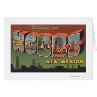Hobbs, New Mexico - Large Letter Scenes 2 Greeting Cards