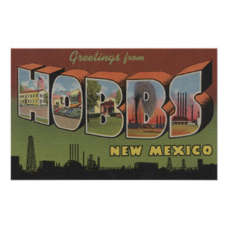 Hobbs, New Mexico - Large Letter Scenes 2 Poster
