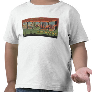 Hobbs, New Mexico - Large Letter Scenes 2 Tshirt