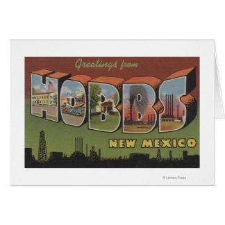 Hobbs, New Mexico - Large Letter Scenes Cards