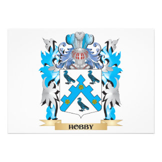 Hobby Coat of Arms - Family Crest Invite