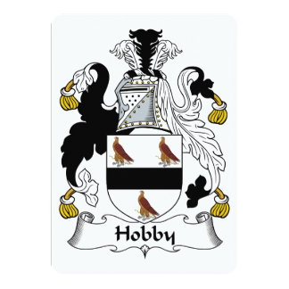 Hobby Family Crest Personalized Invite