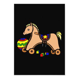 hobby horse 13 cm x 18 cm invitation card