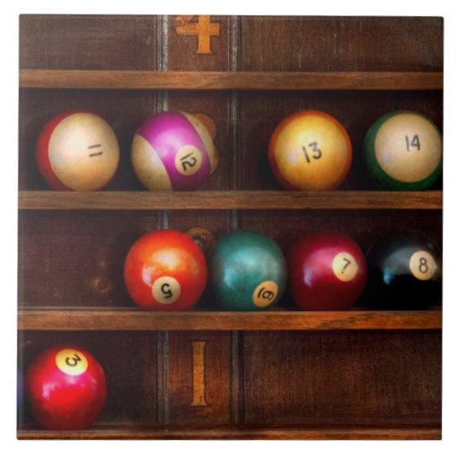 Hobby - Pool - Let's play billiards Tiles