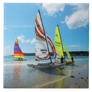 Hobie sailing boats in Jersey Tile