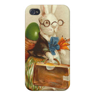 Hobo Easter Bunny Colored Egg Suitcase Case For The iPhone 4