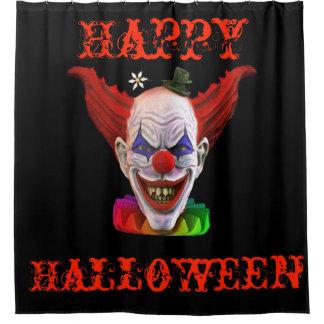 Hobo The Evil Clown ( Happy Halloween ) Shower Curtain