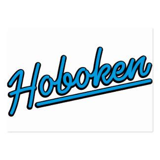 Hoboken in cyan business cards