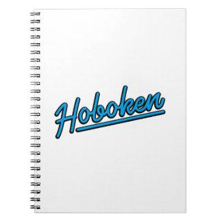 Hoboken in cyan notebooks