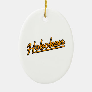 Hoboken in orange christmas ornament