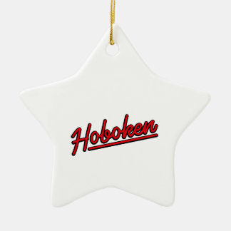Hoboken in red christmas ornament