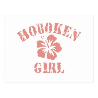 Hoboken Pink Girl Postcard