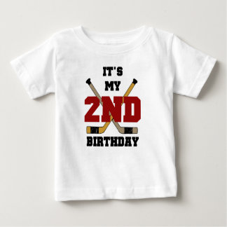Hockey 2nd Birthday Baby T-Shirt