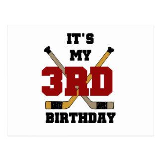Hockey 3rd Birthday Tshirts and Gifts Postcard