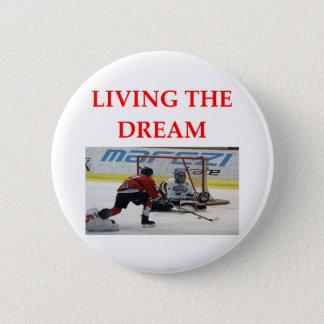 hockey 6 cm round badge