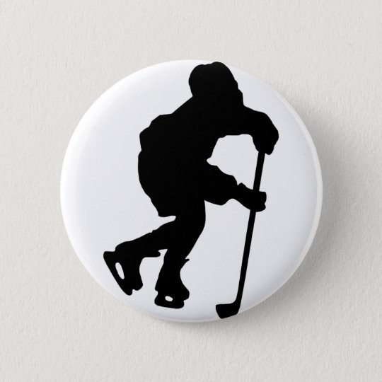 Hockey 6 Cm Round Badge