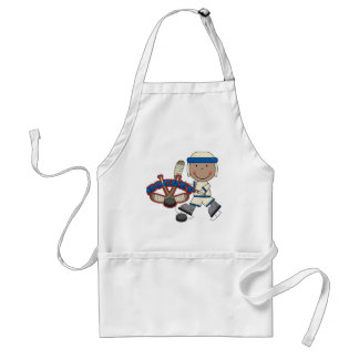 HOCKEY - African American Boy Tshirts and Gifts Apron