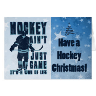 Hockey Ain't Just A Game Christmas Card