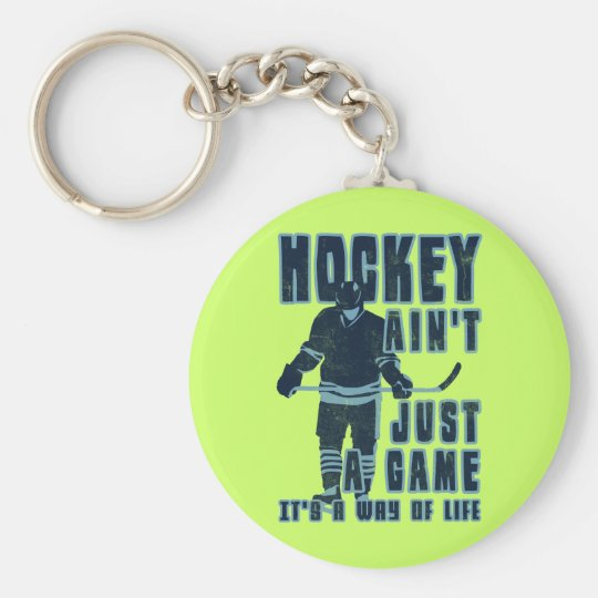 Hockey Ain't Just A Game Key Ring Basic Round Button Key Ring