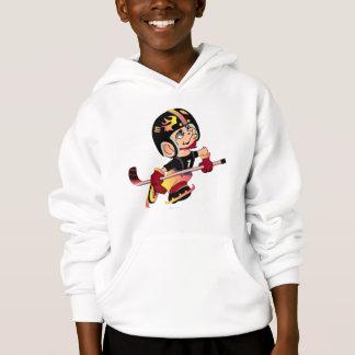 HOCKEY ALIEN CARTOON Kids' Hanes ComfortBlend® Hoo