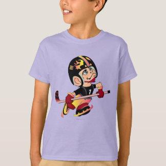HOCKEY ALIEN CARTOON Kids' Hanes TAGLESS® T-Shirt