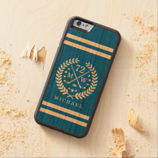 Hockey ALL-STAR Custom Initials and Name Blue Carved Cherry iPhone 6 Bumper Case
