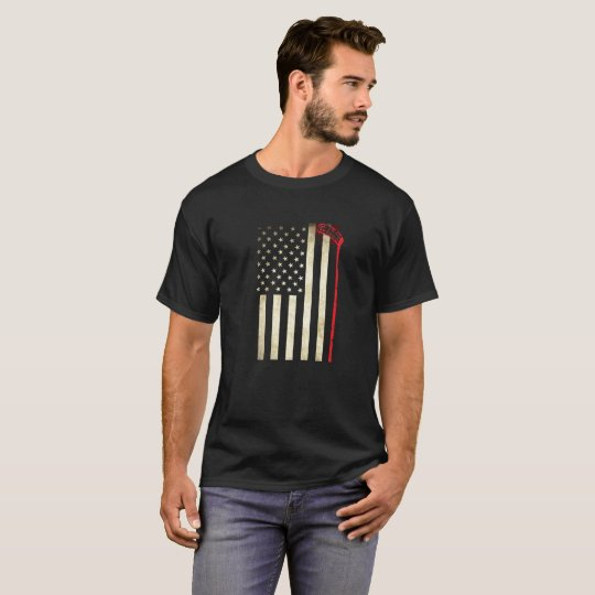 Hockey American Flag T-shirt