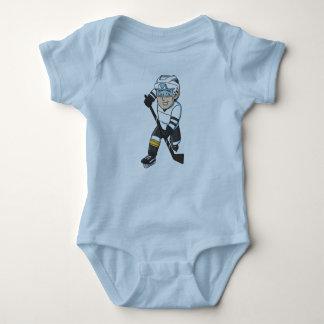 Hockey baby beanie baby bodysuit